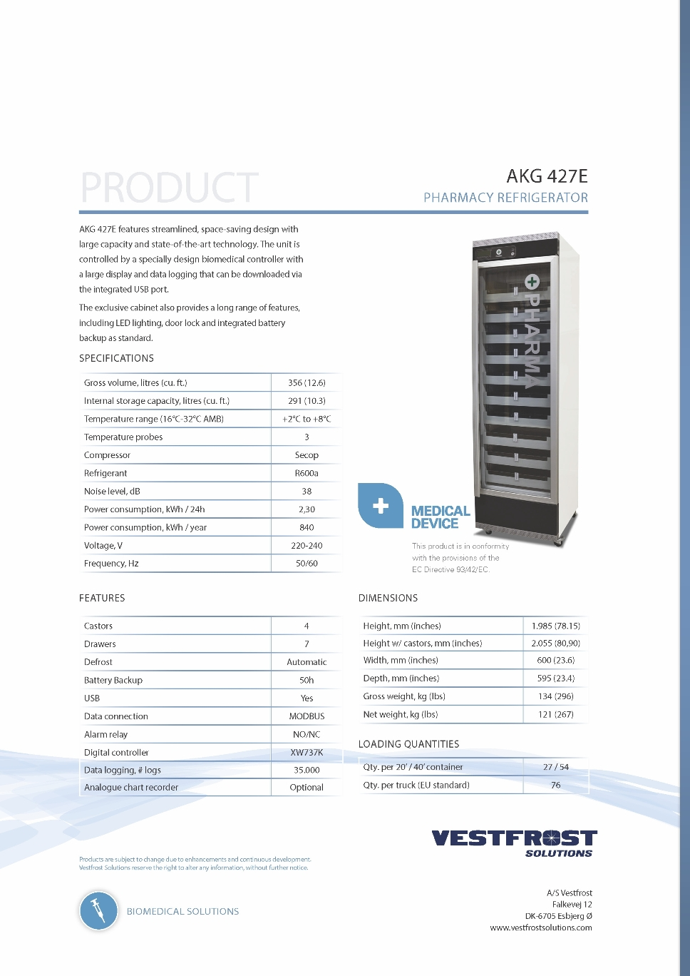 Pages from 2015 - Product Flyer - AKG 427E - Pharmacy Refrigerator.jpg (395371 bytes)